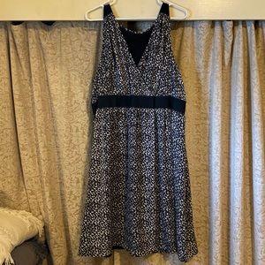 Lane Bryant Silver Leopard Print Dress